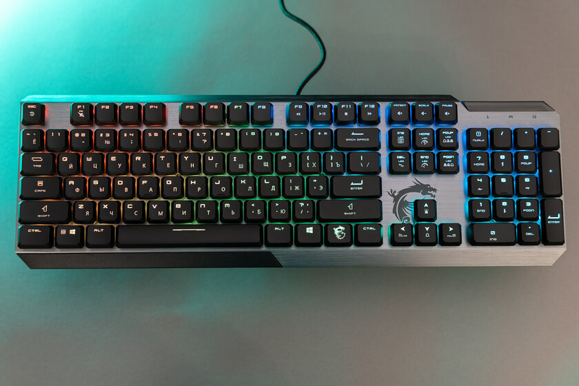 Low Profile and Octagonal Keycaps: MSI Vigor GK50 Unusual Keyboard Review - Switches and Performance.  one
