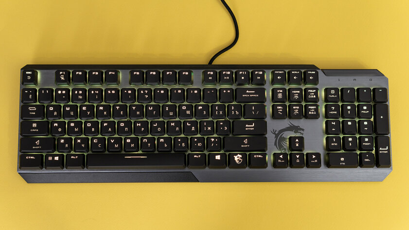 Low profile and octagonal keycaps: MSI Vigor GK50 unusual keyboard review - Reviewed after two weeks of use.  one